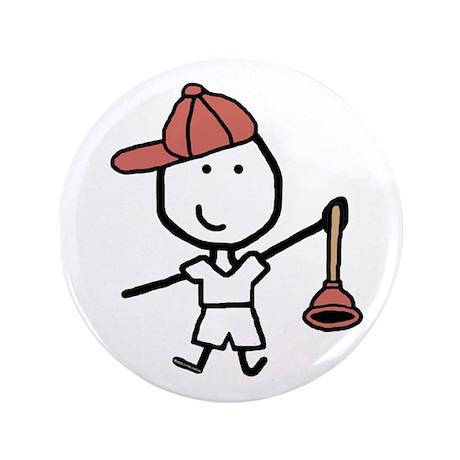 """Boy & Plumber 3.5"""" Button (100 pack)"""