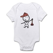 Boy & Plumber Infant Bodysuit