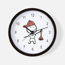 Boy & Plumber Wall Clock