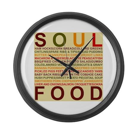 Soul Food Large Wall Clock