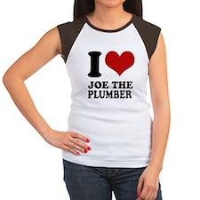 I love Joe the Plumber t shirts. Women's Cap Sleev