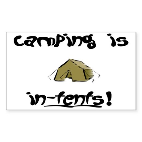 Camping Rectangle Sticker