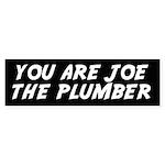 You Are Joe the Plumber Bumper Sticker