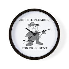Joe the Plumber for President Wall Clock