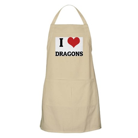 I Love Dragons BBQ Apron