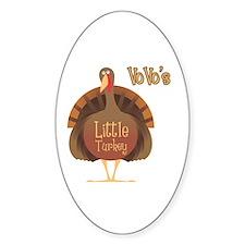 Vovo's Little Turkey Oval Decal