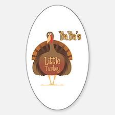 YaiYai's Little Turkey Oval Decal