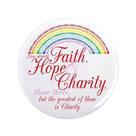 """Rainbow For Girls - Faith, Ho 3.5"""" Button"""