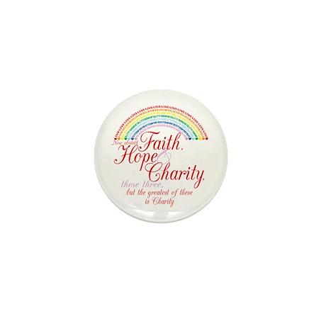 Rainbow For Girls - Faith, Ho Mini Button
