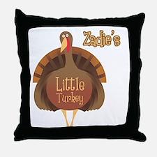 Zadie's Little Turkey Throw Pillow