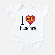 I Love FL Beaches Infant Creeper
