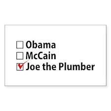 Joe the Plumber Rectangle Decal