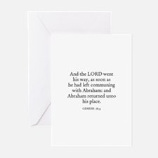 GENESIS  18:33 Greeting Cards (Pk of 10)