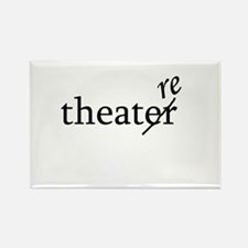 "Theatre Spelled ""re"" Rectangle Magnet"