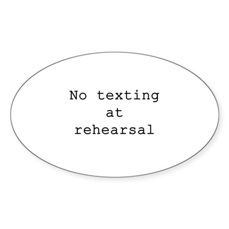 No Texting Oval Sticker