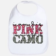 pink in camo Bib