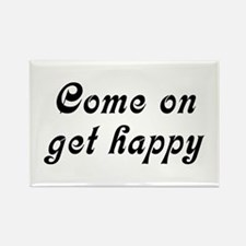 Come Happy Rectangle Magnet