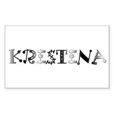 Kristina Rectangle Decal