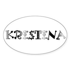 Kristina Oval Decal