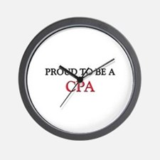 Proud to be a Cpa Wall Clock