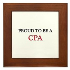 Proud to be a Cpa Framed Tile