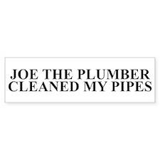 Joe The Plumber Cleans my Pipes Bumper Bumper Sticker