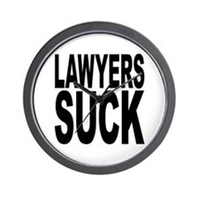Lawyers Suck Wall Clock