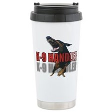 K9 HANDLER ON FRONT/CANINE UN Travel Mug