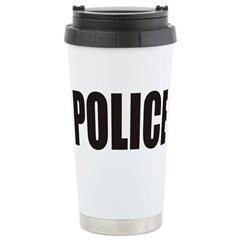POLICE Stainless Steel Travel Mug