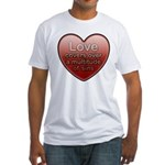 Love Covers Sins Fitted T-Shirt