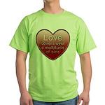 Love Covers Sins Green T-Shirt