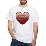 Love Covers Sins White T-Shirt