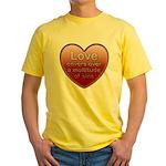 Love Covers Sins Yellow T-Shirt