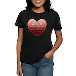 Love Covers Sins Women's Dark T-Shirt