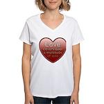 Love Covers Sins Women's V-Neck T-Shirt