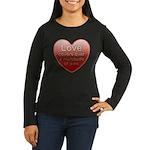 Love Covers Sins Women's Long Sleeve Dark T-Shirt