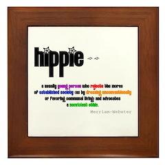 Hippie Defined Framed Tile