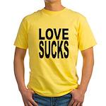 Love Sucks Yellow T-Shirt