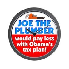 Joe The Plumber Wall Clock