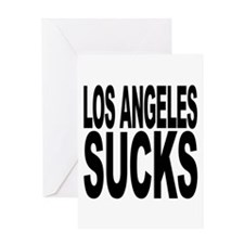 Los Angeles Sucks Greeting Card