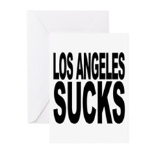 Los Angeles Sucks Greeting Cards (Pk of 10)