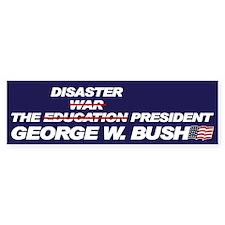 THE DISASTER PRESIDENT Bumper Bumper Sticker