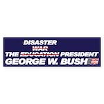 THE DISASTER PRESIDENT Bumper Sticker