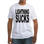 Lightning Sucks Fitted T-Shirt