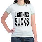 Lightning Sucks Jr. Ringer T-Shirt