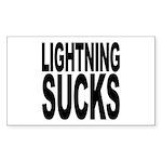 Lightning Sucks Rectangle Sticker