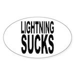 Lightning Sucks Oval Sticker (50 pk)