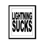 Lightning Sucks Framed Panel Print