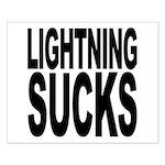 Lightning Sucks Small Poster