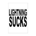 Lightning Sucks Mini Poster Print